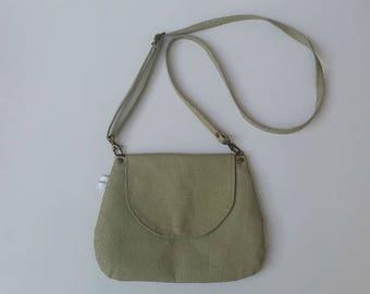 SALE Cross body bag, Vegan cross body bag, Green vegan crossbody bag, Messenger bag ,Green Messenger bag, Shoulder bag, vegan bag