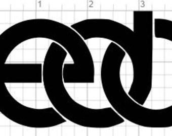 EDC Vinyl Sticker