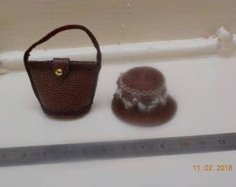 Hat or bag Brown 1/12 scale