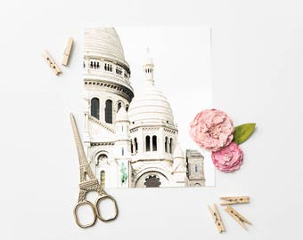 Paris Photography Print - Sacré-Coeur - Paris Wall Art - Minimalist Photography Print