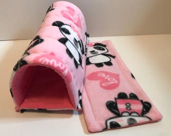 Guinea pig Cavy Chute in pandas love and bubblegum pink
