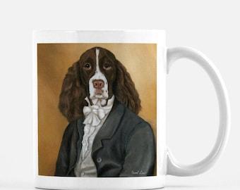 "Funny Mug for Him, English Springer Spaniel, Funny Dog Coffee Mug, ""Mr. Springer"""