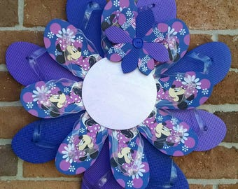 Unique Minnie Mouse Flip Flop Wreath Beachy Ocean Styles Door Decor Daisy Can be Personalized!
