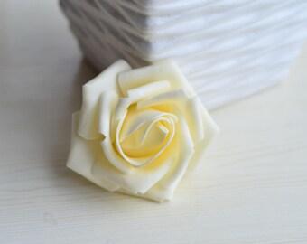 Beige Wedding Flowers Champagne Foam Rose Heads Roses 100 Flower For Kissing Balls Pomander