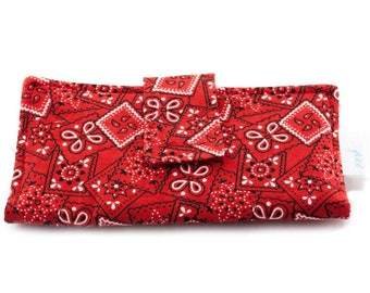 Wallet with  red motif for women
