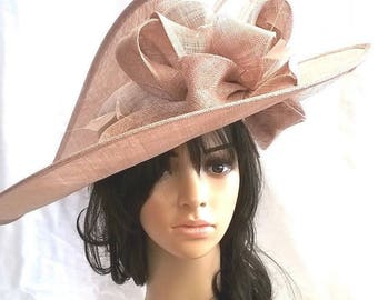 Larger Hatinator..Stunning  Sinamay Fascinator Hat on a Headband..Hatinator