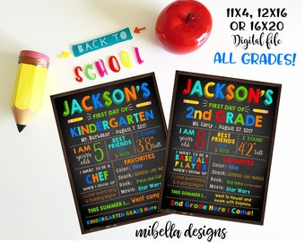 Back to school sign- 3 sizes available - PDF or JPEG- Memory sign- Digital file