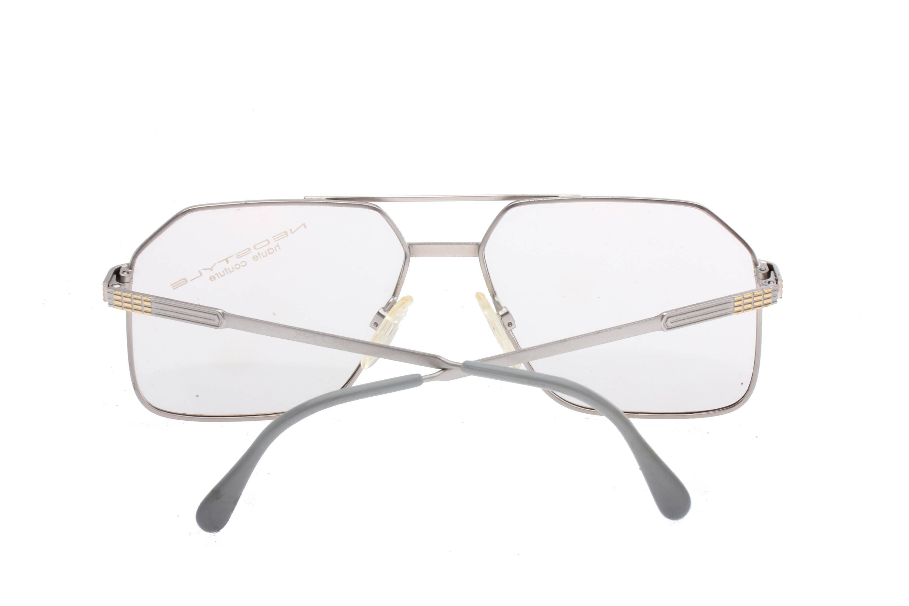 62b9bb67bb Neostyle haute couture Office 44 classy squared silver   gold aviator  eyeglasses frames made in Germany