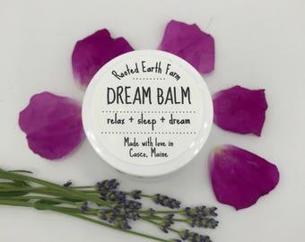 Dream Balm, Sleep Balm, Sleep Salve, Insomnia Relief, Sweet Dreams Balm, Coconut Oil Balm, Herbal Salve, Organic Salve, Bed Time Balm
