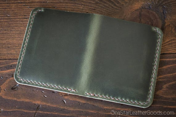 6 Pocket Horizontal wallet, Horween Chromexcel leather - forest green
