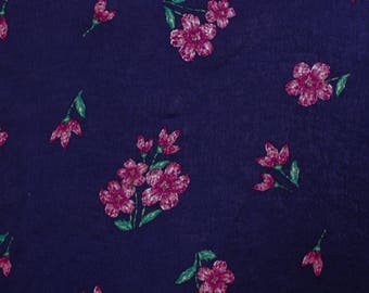 """Navy Fuschia 58"""" Printed Satin Wash Fabric by the Yard-Style P-10004-455"""