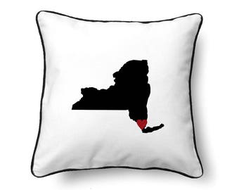 New York Pillow - New York Gift - New York Map - NY State Map