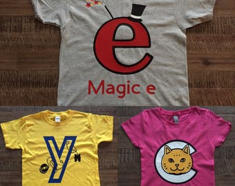 Adult/Youth-Letterland Shirt/Letter People Shirt