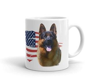 German Shepherds step ahead Mug made in the USA