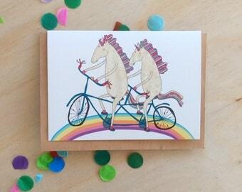 Greeting Card - Tandem Unicorns