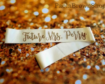 Future Mrs sash bride sash bachelorette party sash bride sash bridal party sash bride to be sash custom sash bridal sash bridal shower sash