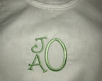 Unisex Baby Romper Bubble Suit with Personalized Girls' or Boys' Monogram or Name