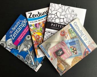 Set of 4 Zentangle and Art Journal Books