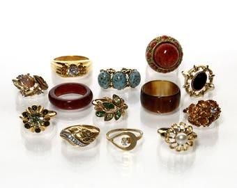 Destash Jewelry Lot Of 13 Costume Rings