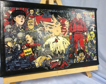 """AKIRA Hand Painted Acrylic Paint on Stretched Canvas 11"""" x 16"""""""
