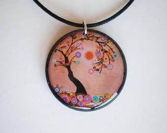 Tree of life pendant - Tree of life jewelry - Resin pendant - Art pendant - Tree of life - Gift for her - Woman gift - Printed artwork