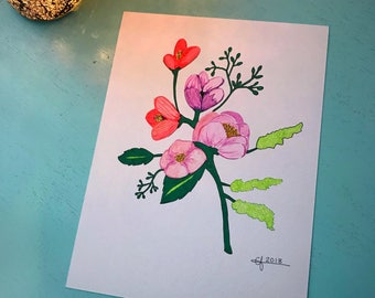 Floral Expectations- 9x12- wall art- nursery art