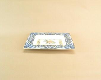 Wedgwood Blue Elephant Decorative Bowl Bone China Vintage English Retro