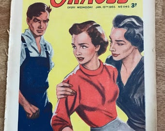 Vintage Ladies Magazine, 'The Oracle', Vintage Story Periodical, Circa January 1955