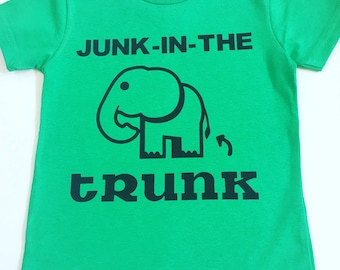 Junk In The Trunk Shirt, Toddler Funny Shirts, Funny Shirts For Toddlers, Kids Hipster Clothing, Funny Kid's Shirts, Funny Tee Shirts
