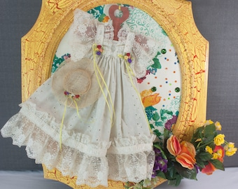 Vintage Doll Dress Wall Hanging
