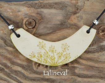 Torque ceramic yellow flower print