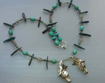 Horse jewelry Tribal necklace beads Zimmer Equine jewelry