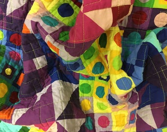 Rainbow baby quilt, wheelchair quilt, made in Canada