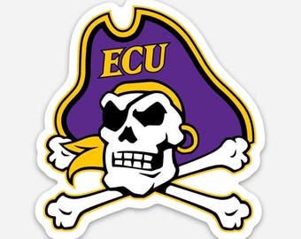 ECU Pirates | Die Cut Vinyl Sticker