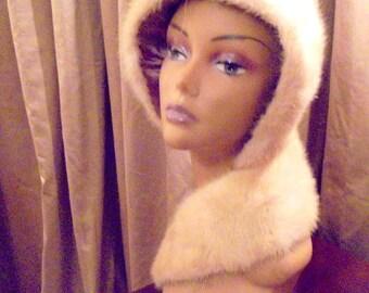 Mink Collar White Mink Collar Scarf