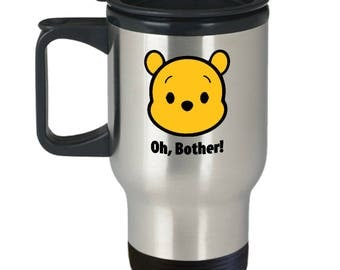 Oh, Bother! Winnie the Pooh Disney Gift Travel Mug Coffee Disneyland Bear
