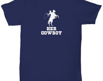 Her Cowboy Shirt Gift for Husband Boyfriend Couples His Hers Horse Riding Rider Shirts