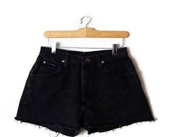 Vintage Wrangler  Black  Denim Cut off Shorts from 90's/W26*