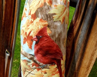 Bird Plastic Bag Holder, Cardinal Grocery Bag Dispenser, Autumn Shopping Bag Keeper, Spring Bag Caddy
