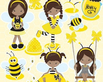 80 OFF SALE Busy Bee Girl Clipart For Scrapbooking Commercial Use Vector Graphics