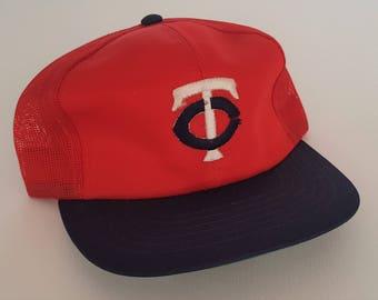 Vintage Minnesota Twins Mesh Snapback Hat MLB VTG