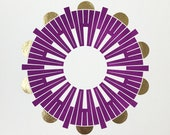 "CLOSENESS Mandala - 12"" Jewel Print with Gold"