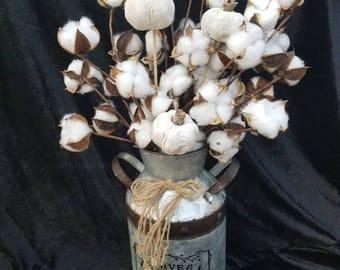 White fall silk arrangement home decor