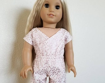 Criss Cross Romper for American Girl Dolls by The Glam Doll