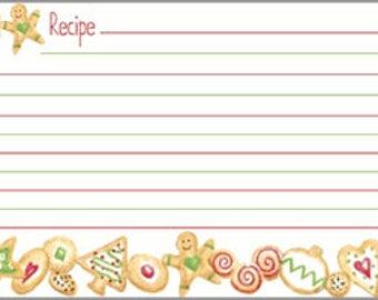 Cookie Recipe Cards | Christmas Cookie Recipe Cards | Cookie Exchange Recipe Cards | Christmas Baking | Recipe Box Cards