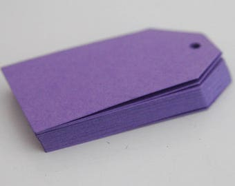 Purple Favor Tags, Party Favor Gift Tags, Scrapbooking DIY Crafts Lilac Party Decor, Product Labels Thank You Gift Supplies