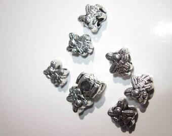 4 beads big hole 1 silver fairy charms cm-2057