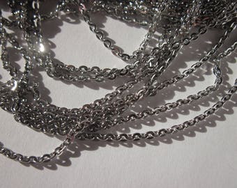 1 meter of stainless chain silver color mesh (stainless steel 1)