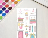 Birthday Girl Planner Sti...