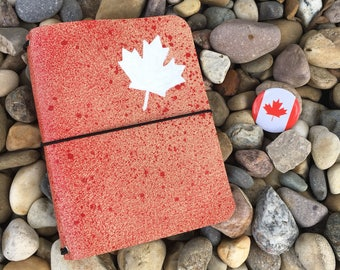 JournalJot (A6) - Canada 150 Special Edition (2) - Leather Traveler's Notebook/Fauxdori